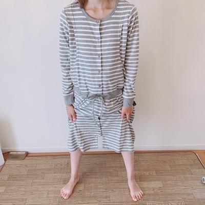 マタニティパジャマ裾スナップ